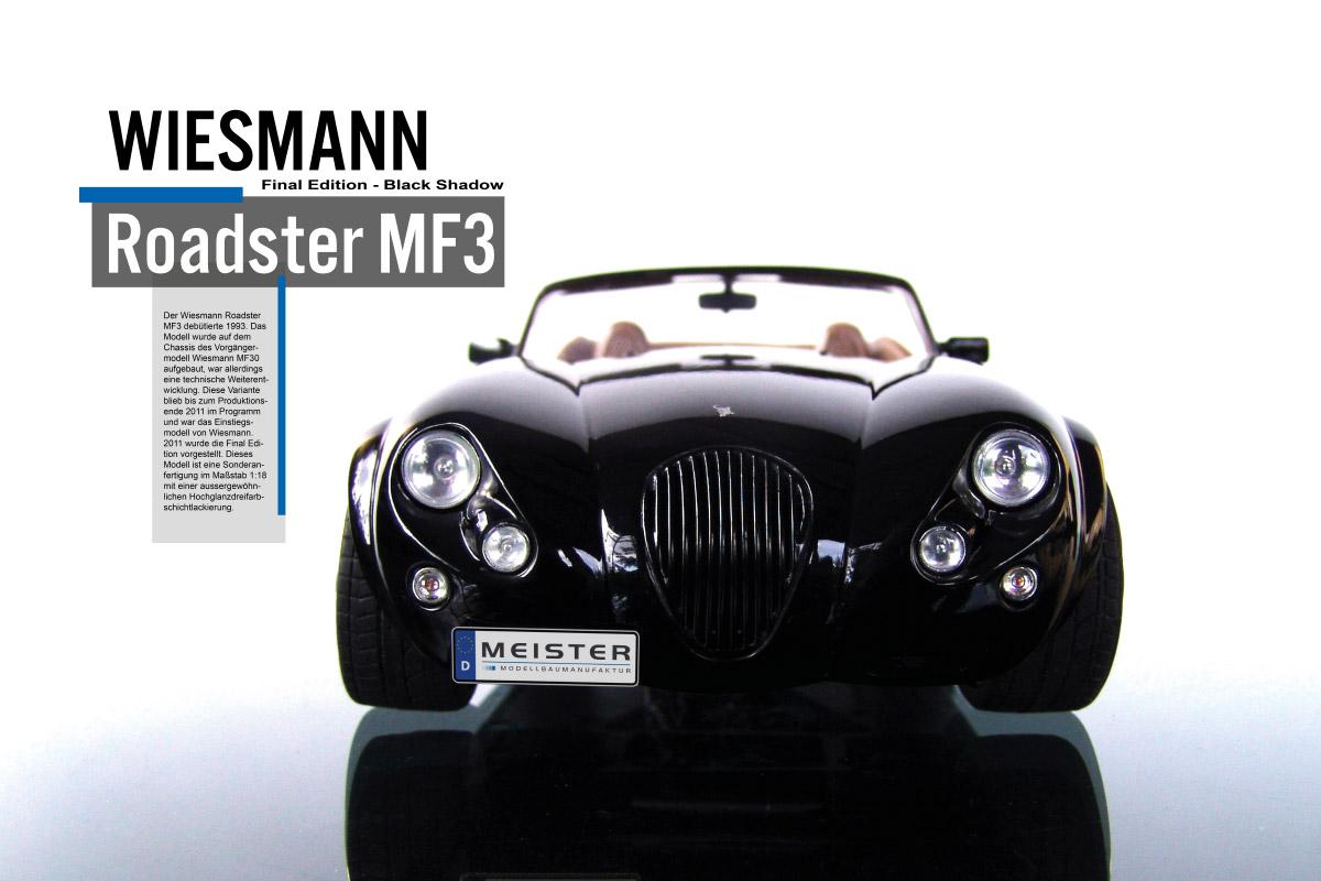 Modellauto Wiesmann Roadster MF3 1/18